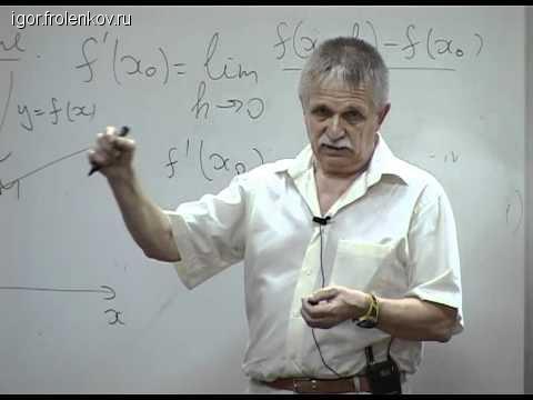 Курс видеолекций по математическому анализу
